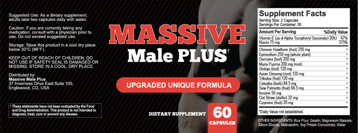 massive male plus ingredients