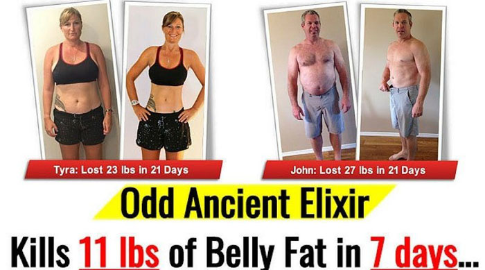Flat Belly Fix before and after
