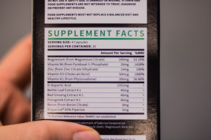 testogen ingredients